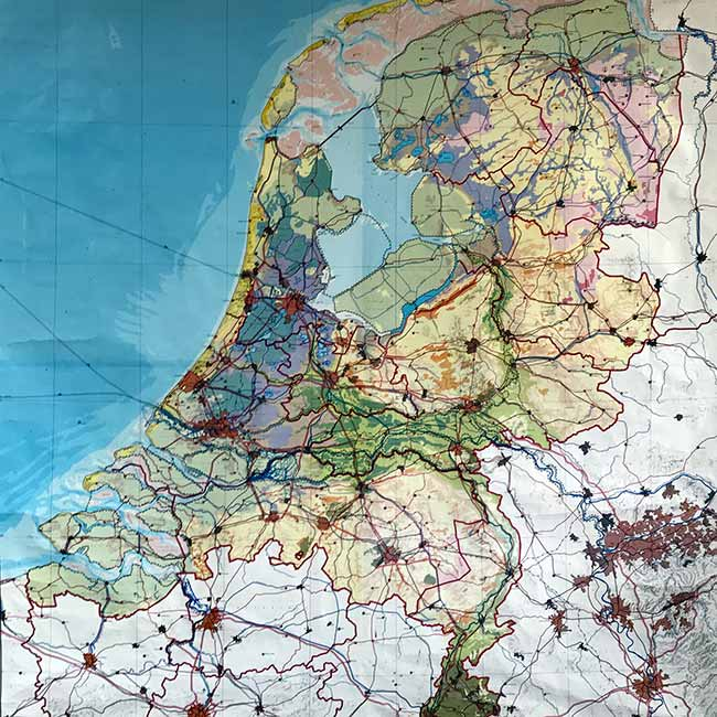 Map of the Netherlands 1968